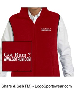 Harriton Adult Fleece Vest Design Zoom